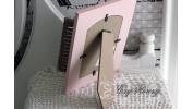 Ramka z okiennicami różowa
