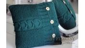 Poduszka z wełny zielona 40x40