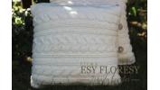 Poduszka biel wełny 40x40
