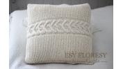 Poduszka biel wełny 45x45