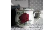 Kubek z zaparzaczem róże 480ml