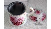 Kubek z zaparzaczem Angielskie róże