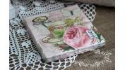 Serwetki z różą i filiżanką