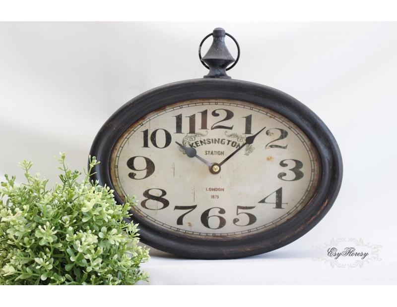 Zegar retro owalny