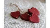 Zawieszka serca czerwone
