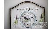 Duży zegar z lawendą