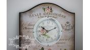 Duży zegar z różami
